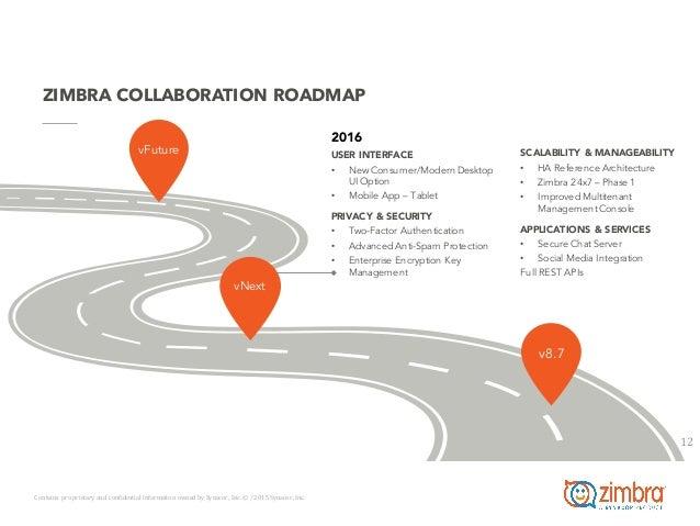 Zimbra Roadmap 2015 2016