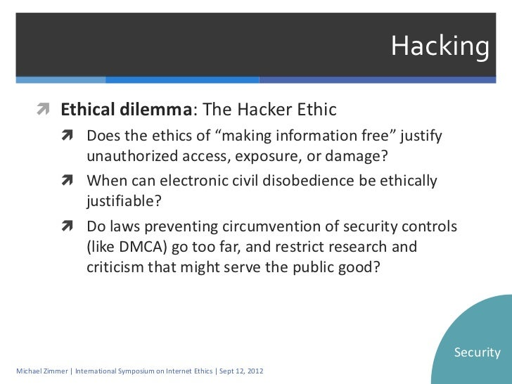 piracy ethical dilemma in computer ethics Ethics subject differ in their ethical decision making from those who have not   asked students to read ethical dilemmas focusing on software piracy and  of  computing and internet technology on ethical issues and assesses the new laws  and.