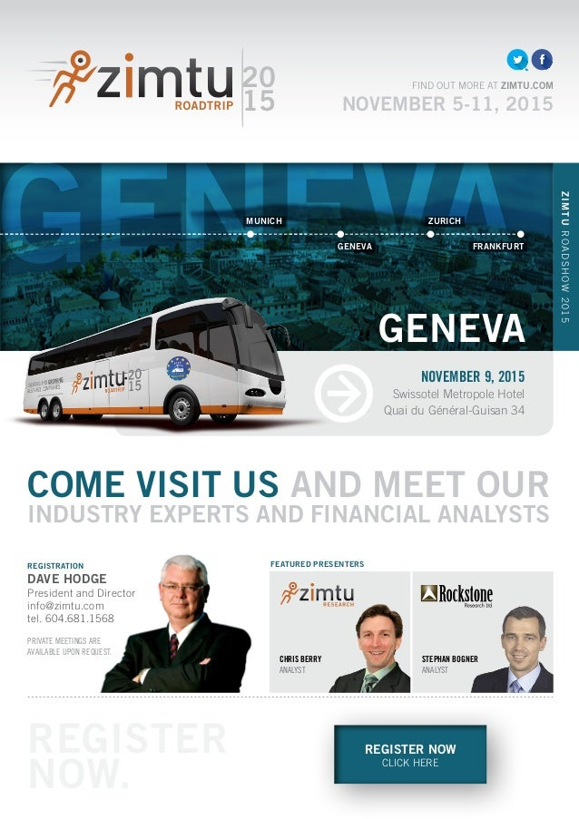 GENEVA REGISTER NOW CLICK HERE COME VISIT US AND MEET OUR INDUSTRY EXPERTS AND FINANCIAL ANALYSTS CHRIS BERRY ANALYST 20 1...