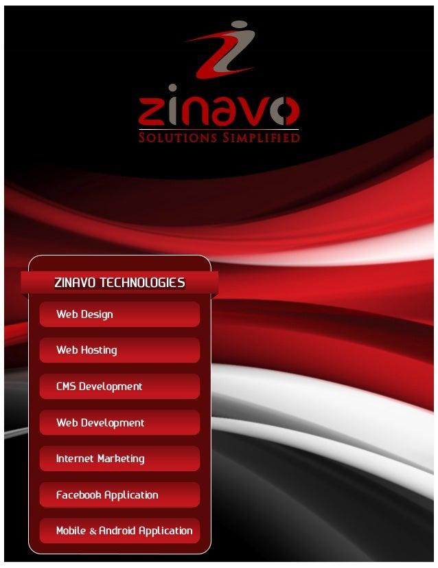 S ol u t ion s S i m pl i  ZINAVO TECHNOLOGIES Web Design Web Hosting CMS Development Web Development Internet Marketing F...