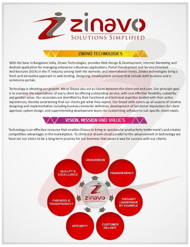 S ol u t ion s S i m pl i  ed  ZINAVO TECHNOLOGIES With the base in Bangalore India, Zinavo Technologies provides Web Desi...