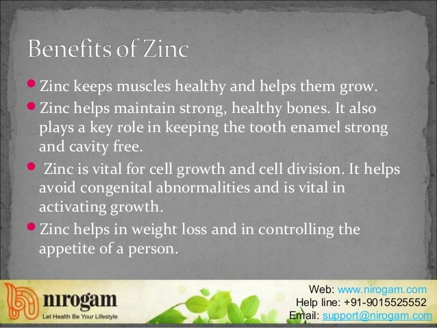 Benefits of zinc for women