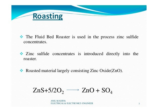Roasting The Fluid Bed Roaster is used in the process zinc sulfide concentrates. Zinc sulfide concentrates is introduced d...