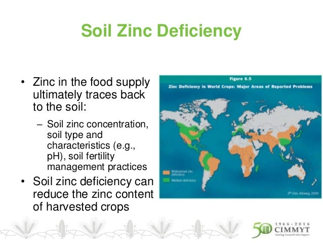Zinc deficiency map in africa