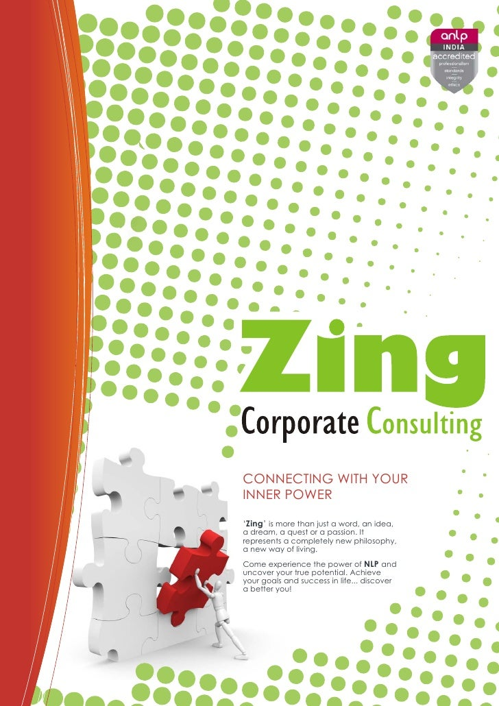 CONNECTING WITH YOURINNER POWER'Zing' is more than just a word, an idea,a dream, a quest or a passion. Itrepresents a comp...
