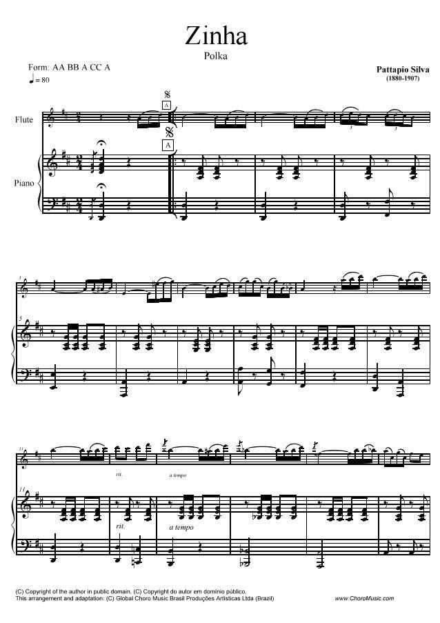 Form:  AA BB A CC A pattapm Silva z g0 (1880-1907)  Flute  Piano     l .  í'1ZlI_Tí-z_í__-__íp__íííz__í ÉAíIÃI-ZZ-; ÃB-líl...