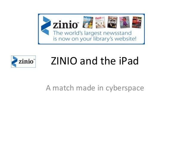 ZINIO and the iPad A match made in cyberspace