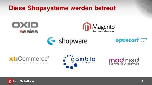 Diese Shopsysteme werden betreut 4