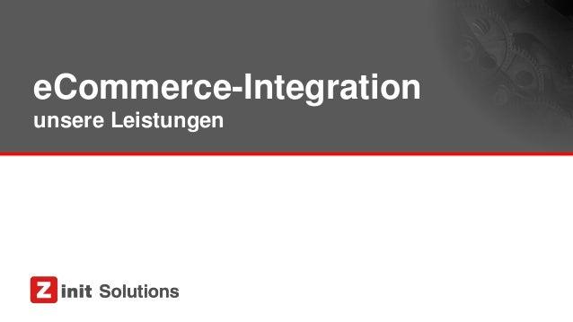 eCommerce-Integration unsere Leistungen