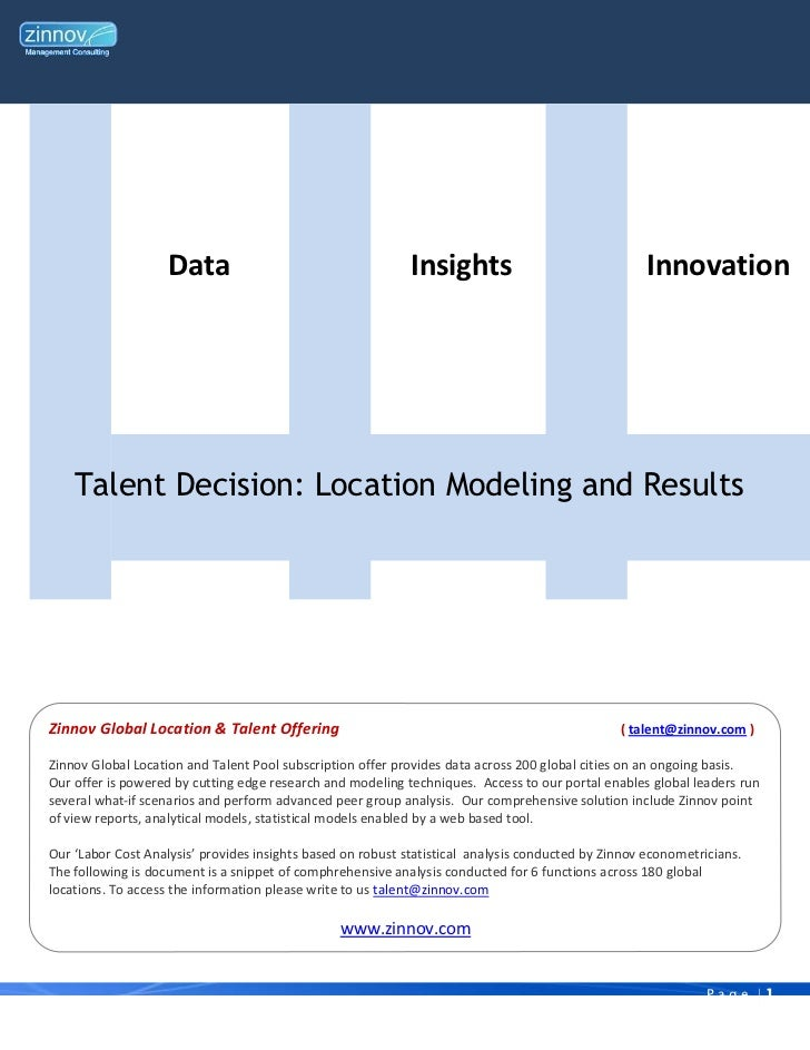 Data                                     Insights                                Innovation    Talent Decision: Location M...