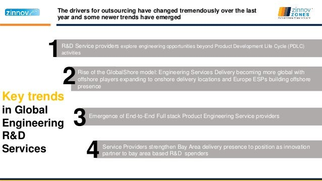 Key trends in Global Engineering R&D Services The drivers for outsourcing have changed tremendously over the last year and...