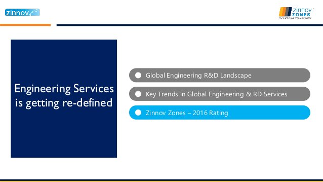 Global Engineering R&D Landscape Engineering Services is getting re-defined Key Trends in Global Engineering & RD Services...