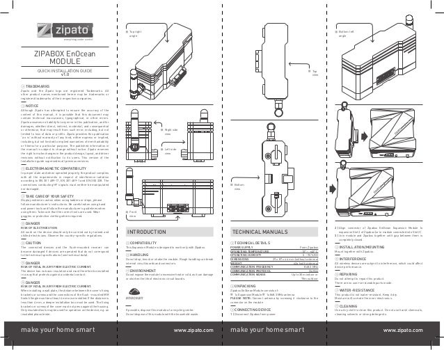 Zipato enocean module manual