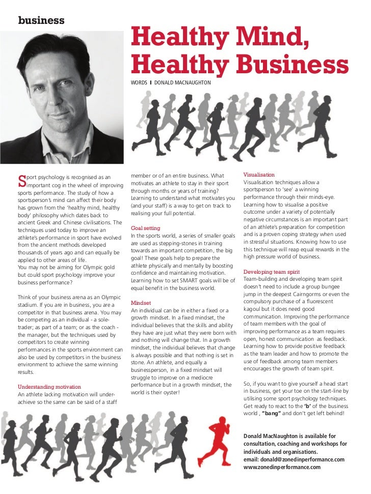 business                                               Healthy Mind,                                               Healthy...