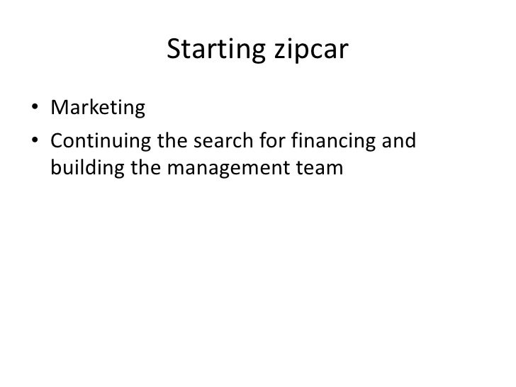 Zipcar case study analysis