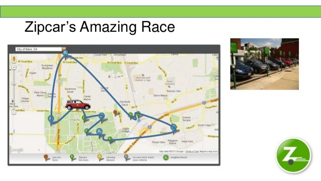 Zipcar Zipcar Map on