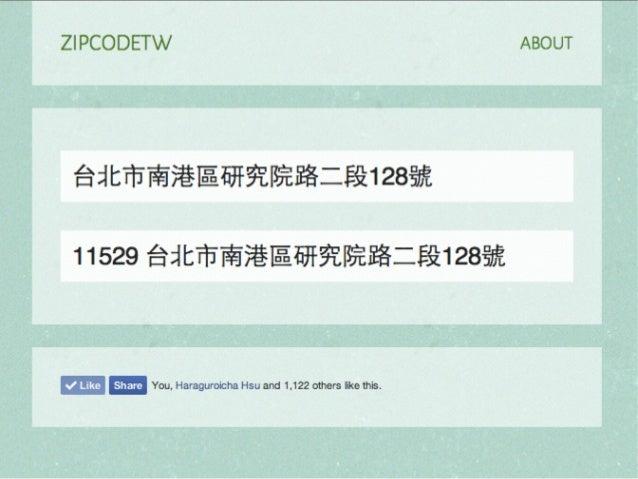 ZIPCodeTW: Find Taiwan ZIP Code by Address Fuzzily