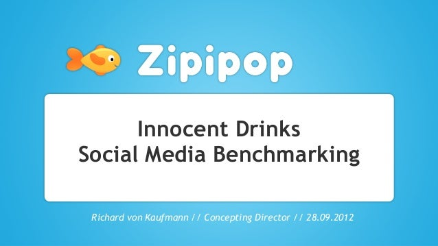 Innocent DrinksSocial Media BenchmarkingRichard von Kaufmann // Concepting Director // 28.09.2012