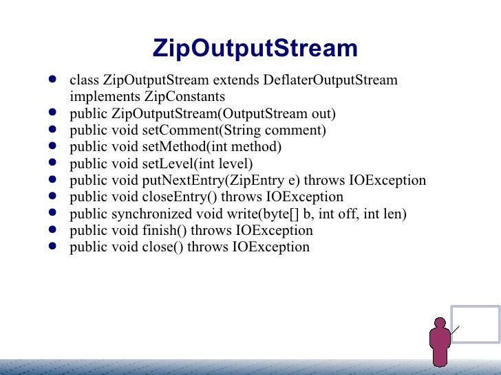 ZIP, GZIP Streams in java
