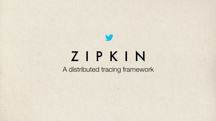 Z I P K I NA distributed tracing framework
