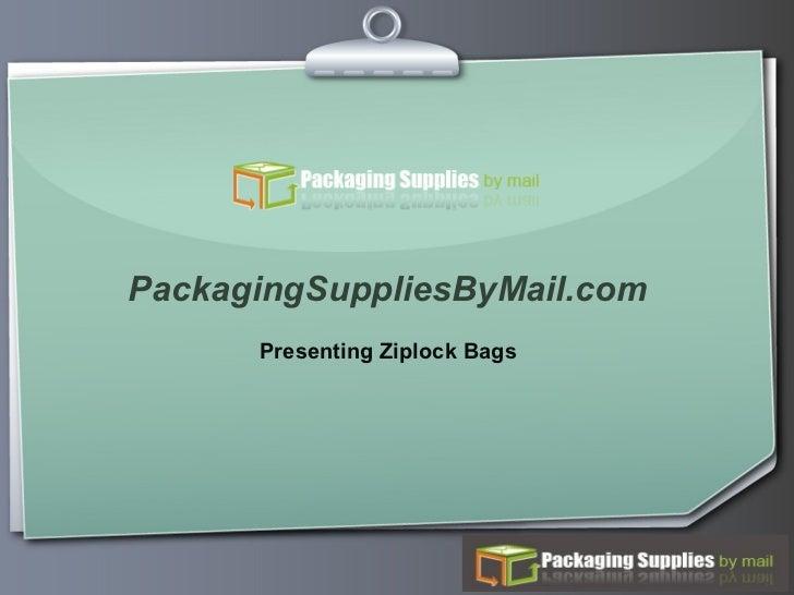 Ziplock Bags, Resealable Plastic Bag ...
