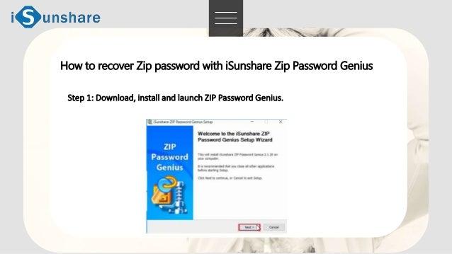Zip password recovery software -iSunshare zip password