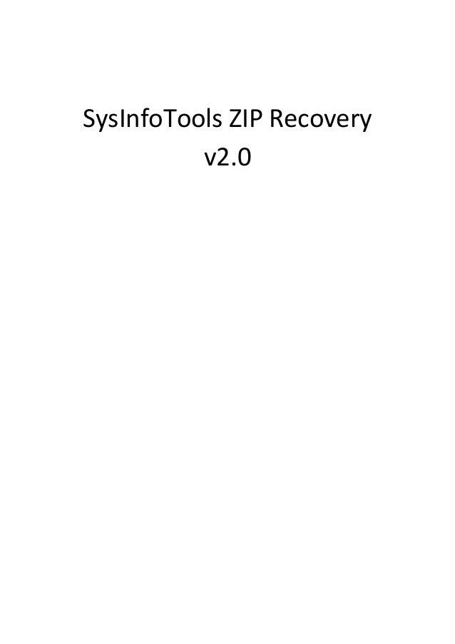 SysInfoTools ZIP Recovery          v2.0