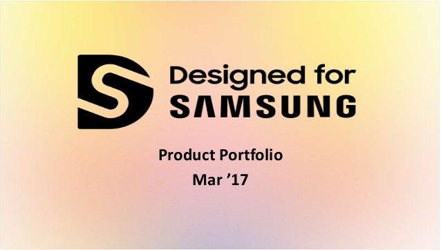 Product Portfolio Mar '17