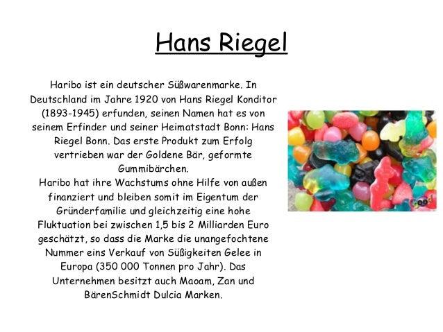 Hans Riegel Haribo ist ein deutscher Süßwarenmarke. In Deutschland im Jahre 1920 von Hans Riegel Konditor (1893-1945) erfu...