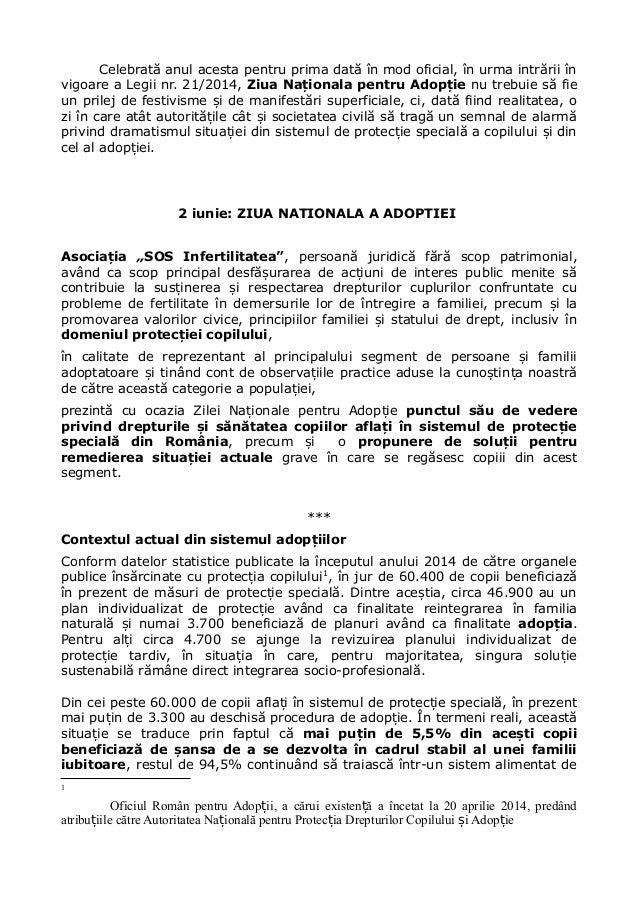 Celebrată anul acesta pentru prima dată în mod oficial, în urma intrării în vigoare a Legii nr. 21/2014, Ziua Na ionala pe...