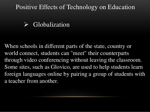 Positive and negative aspects of technology essay