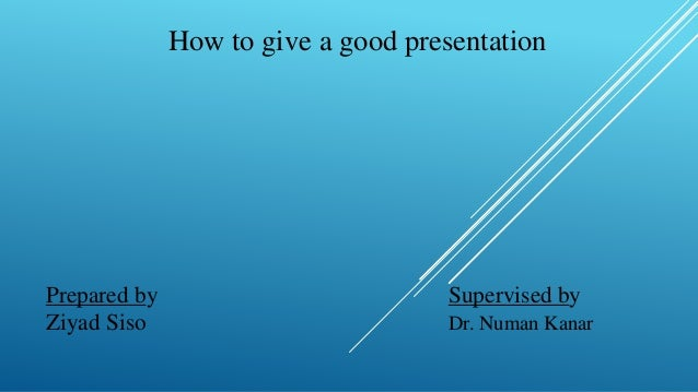 how to start a good presentation