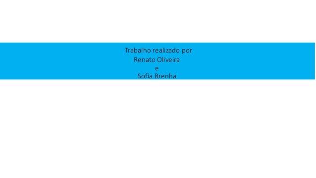 Trabalho realizado por Renato Oliveira e Sofia Brenha