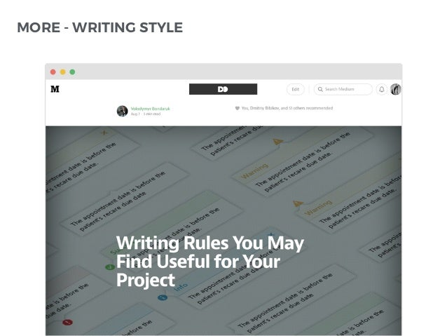 MORE - WRITING STYLE