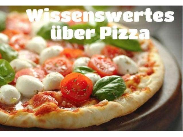 Wissenswertes ueber pizza