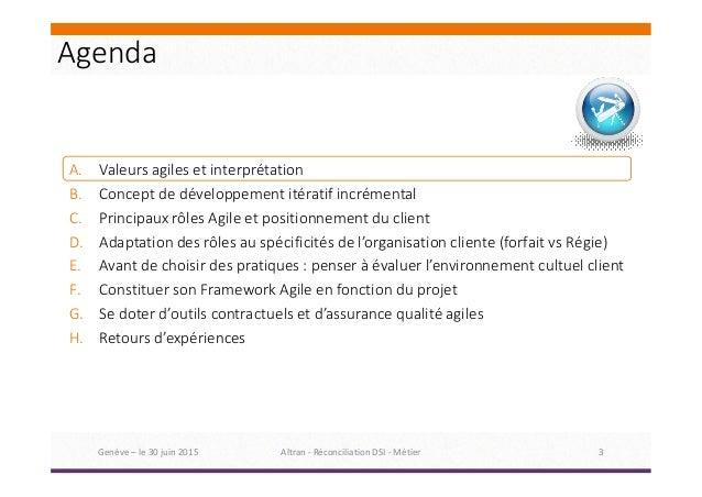 BAFS 2015 Genève : Frédéric Tremeau - Comment réconcilier l'IT et le métier grâce à l'agilité ? Slide 3