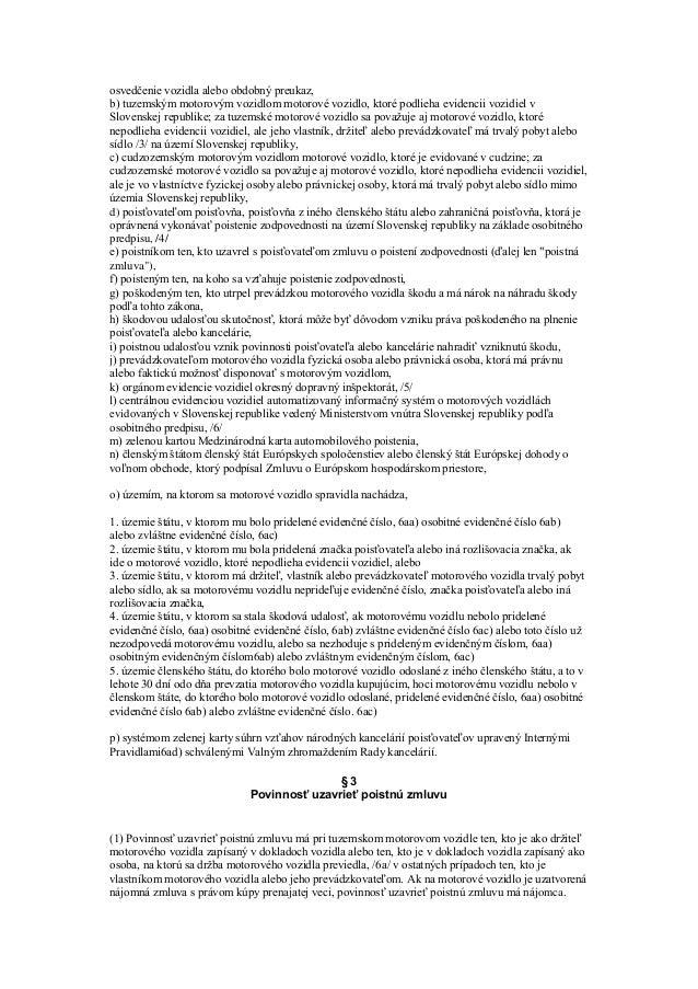Zakon O Povinnom Zmluvnom Poisteni
