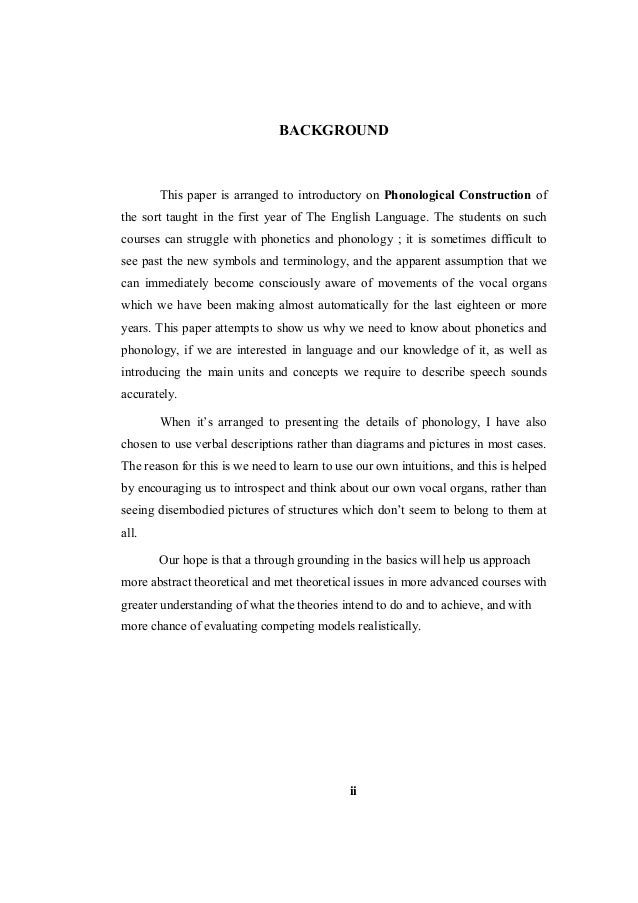 Makalah phonological construction barus april 2014 writer i 4 background this paper is arranged to introductory on phonological construction of fandeluxe Images