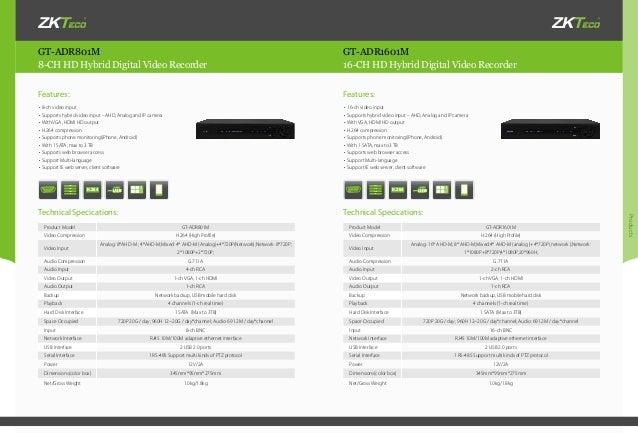 ZKTeco CCTV products Catalogue