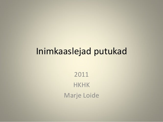 Inimkaaslejad putukad 2011 HKHK Marje Loide