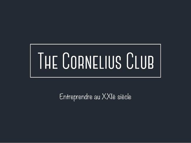 Entreprendre au XXIè siècle