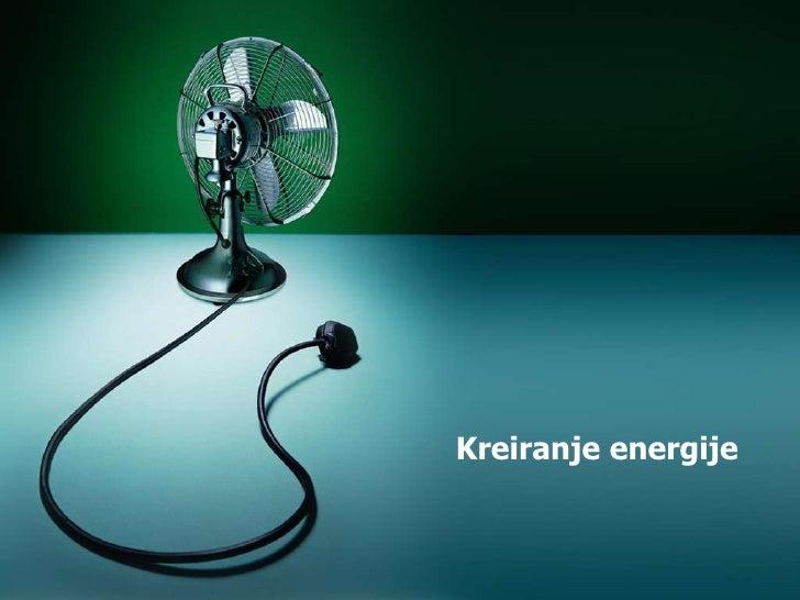 Kreiranje energije