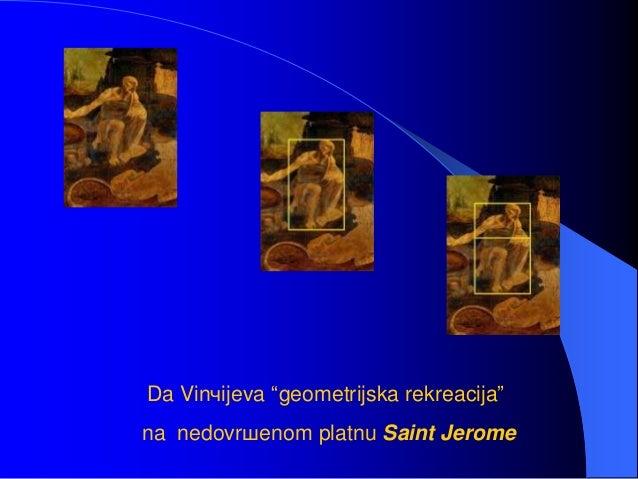 """Da Vinчijeva """"geometrijska rekreacija"""" na nedovrшenom platnu Saint Jerome"""