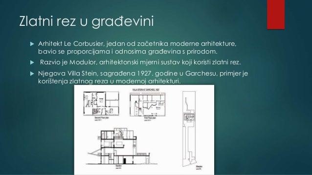Zlatni rez u građevini  Arhitekt Le Corbusier, jedan od začetnika moderne arhitekture, bavio se proporcijama i odnosima g...