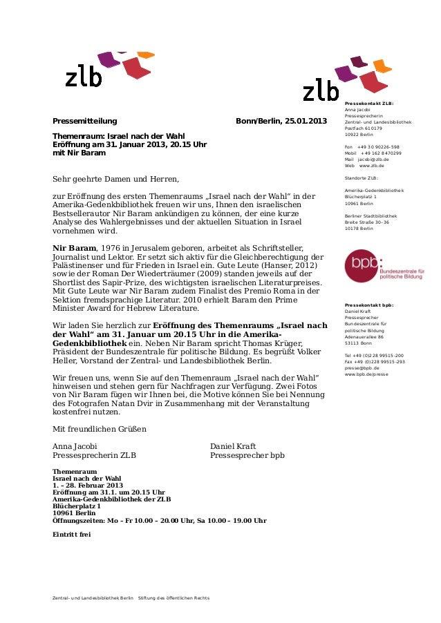 Pressekontakt ZLB:                                                                                                        ...