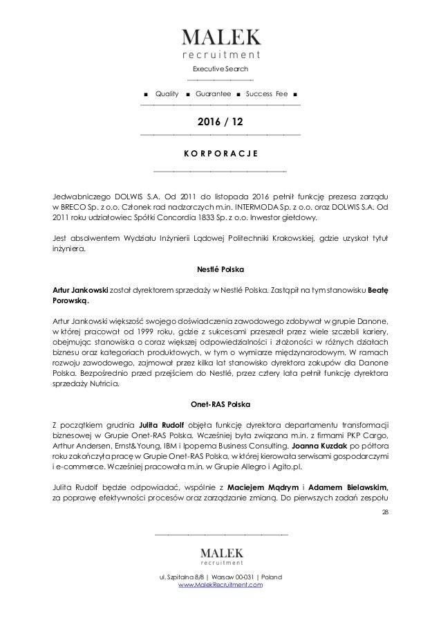 Biuletyn: Zmiany Personalne  Korporacje  Finanse  Prawo