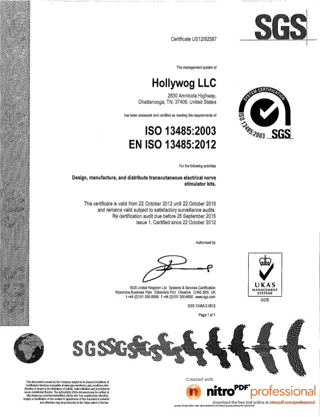 ZMPCHW070000.13.03 Hollywog ISO13485 Certification