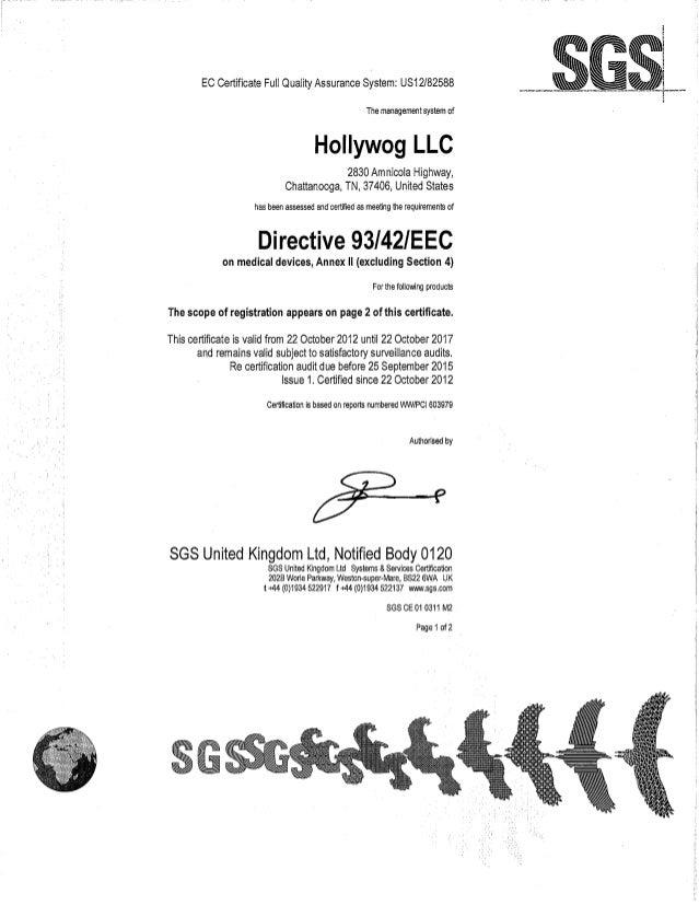 ZMPCHW070000.13.07 EC Certificate Full quality Assurance System