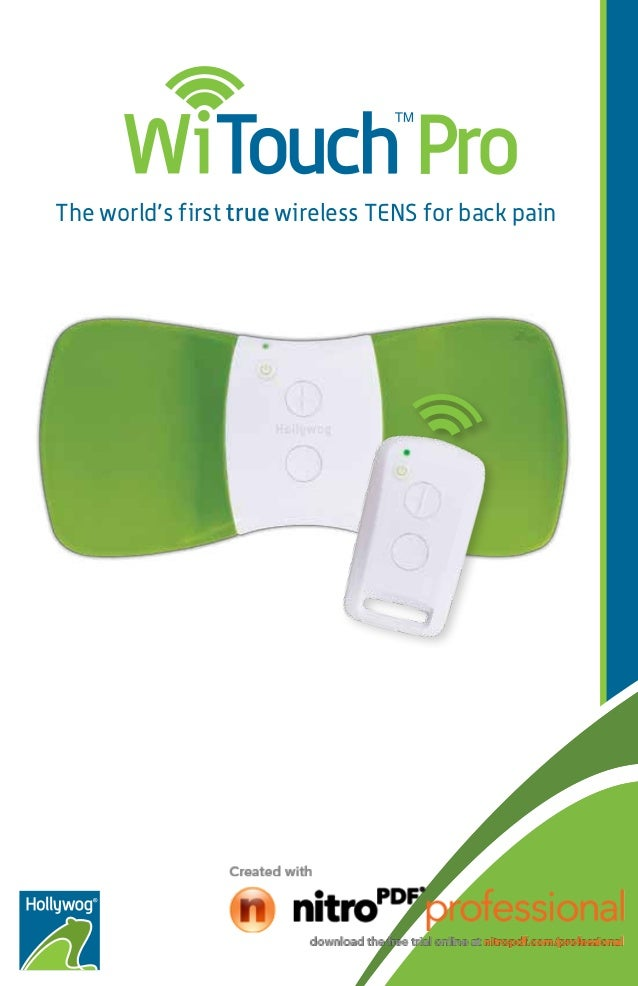 The world's first true wireless TENS for back pain
