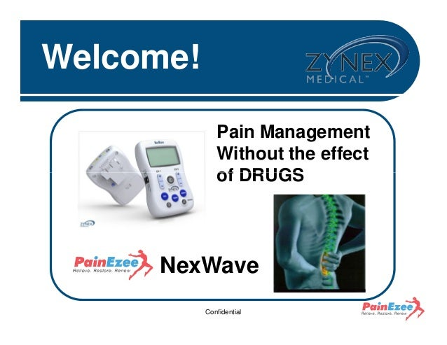 Welcome! Pain Management Without the effect of DRUGS  NexWave Confidential